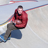 Newburyport: Trevor Bradbury of the Newburyport football at the skateboard park in Newburyport. Jim Vaiknoras/staff photo