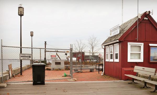 Newburyport: Newburyport's Harbormaster shack on the waterfront. Bryan Eaton/Staff Photo