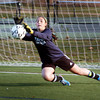 Byfield: Triton soccer goalkeeper Christine Ciccone in practice yesterday. Bryan Eaton/Staff Photo
