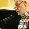 "Newburyport: Tom Miller of Ipswich reads his work ""The Dancer."" Bryan Eaton/Staff Photo"