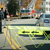 Amesbury: Traffic was detoured on Elm Street in Amesbury, here at Congress Street near Cumberland Farms, for a chemical spill at ARC Technologies about 75 yards from the intersection heading south. The complex is on Elm Street, but goes back to Oakland Street. Bryan Eaton/Staff Photo