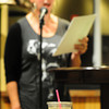 Newburyport: Susan LaFortune of Haverhill reads above iced coffee at Plum Island Coffee Roasters. Bryan Eaton/Staff Photo