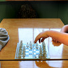 Newburyport: Zack Naughton, left, and Nate Trimper, both 11, match wits in a game of chess at the Kelley School Youth Center on Tuesday. Zack has been playing since he was in second grade, though he said he's a little rusty as he hasn't played much, and Nate took it up last year. Bryan Eaton/Staff Photo
