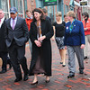 Newburyport: Governor Deval Patrick toured downtown Newburyport with Mayor Donna Holaday. Bryan Eaton/Staff Photo