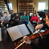 Newburyport: The string quartet playing in this weekend's Newburyport Chamber Music Festival practiced on Thursday afternoon. Sparhawk students who are learning to compose and play music were invited to see the professionals at work. Bryan Eaton/Staff Photo
