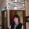 "Salisbury: Melinda ""Mindy"" Morrison is Salisbury's new town clerk taking over for Wilma McDonald, who retired this month. Bryan Eaton/Staff Photo"