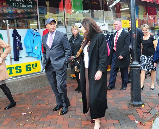 Newburyport: Governor Deval Patrick toured downtown Newburyport with Mayor Donna Holaday. Bryan Eaton/Staff Photo