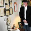 Newburyport: Dennis Radulski is exhibiting and selling his drawings by artist William Graves Perry at Ivy Lane. Bryan Eaton/Staff Photo