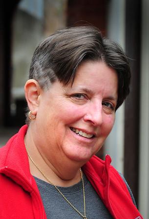 "BRYAN EATON/Staff Photo. Winner of Amesbury Rotary contest, ""The Hair Dare"" is Cathy Toomey."