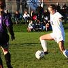 BRYAN EATON/ Staff Photo. Triton player Skyler Accomando moves the ball into Shawsheen territory.
