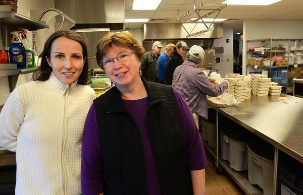 BRYAN EATON/Staff Photo. Newburyport Senior Center activies coordinator Mary Kelly, left, with Council on Aging director Roseanne Robillard.