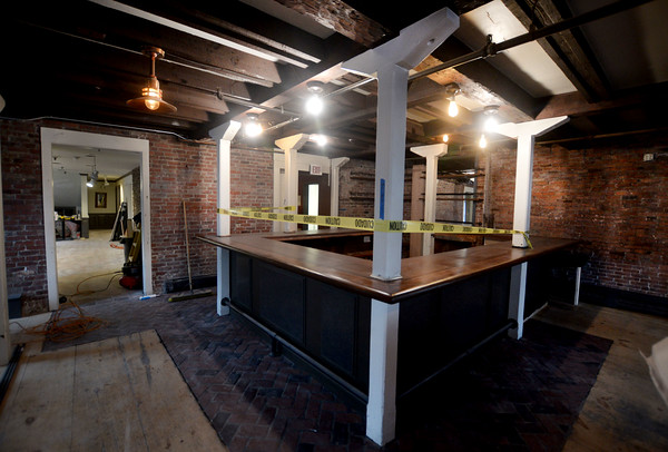 JIM VAIKNORAS/Staff photo Interior of  Brick and Ashes at 10 Center Street one of the new restaurants in Newburyport.