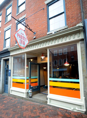 JIM VAIKNORAS/Staff photo The soon to be opened Paddle Inn on State Street one of the new restaurants in Newburyport.