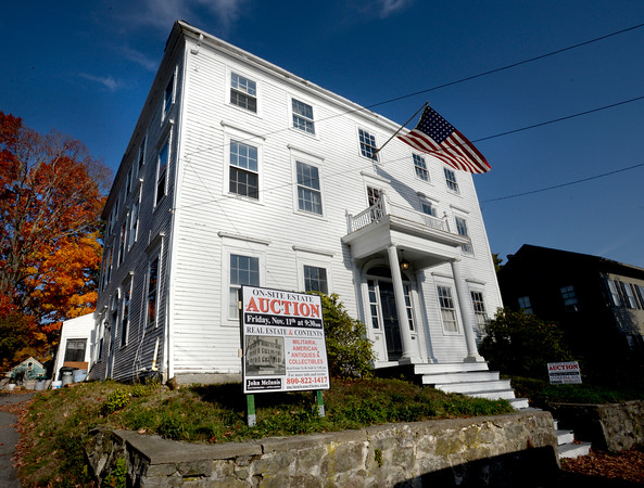 BRYAN EATON/Staff photo. The Bass-Whitney House at 26 Tyng Street in Newburyport is being sold as well as all of the contents of the circa 1807 home.