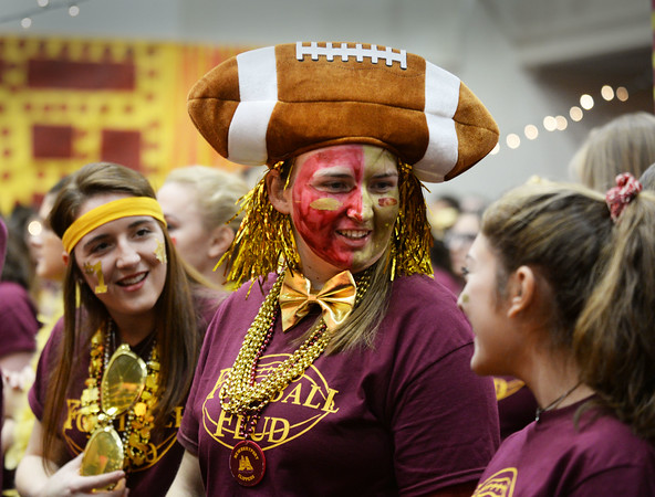 BRYAN EATON/Staff photo. Many Newburyport High School students dressed to the extreme as they participated in Color Day on Wednesday getting ready for the Thanksgiving Day football game with longtime rivals Amesbury High School.