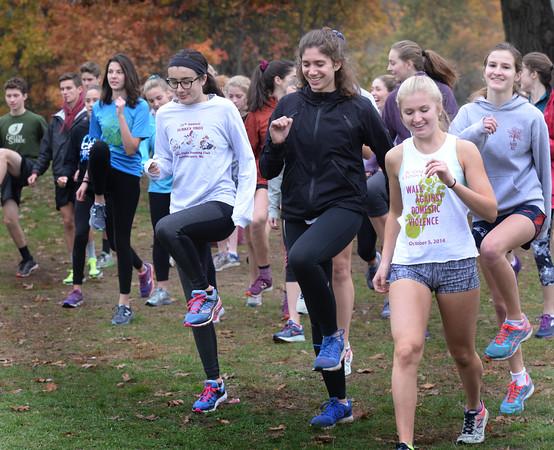 BRYAN EATON/Staff photo. Newburyport girls warm up.