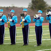 BRYAN EATON/Staff photo. The Triton High School marching band performs the National Anthem.