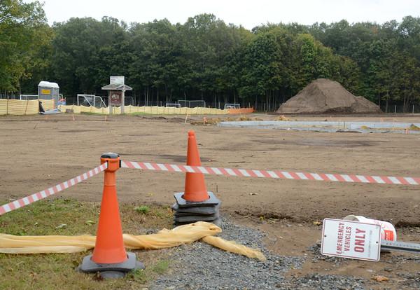 JIM VAIKNORAS/Staff photo <br /> Cherry Hill soccer field renovations