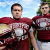 BRYAN EATON/Staff Photo. Unsong heroes, Jake Aceto, left, and Dan Hansen.