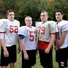 BRYAN EATON/Staff Photo. Amesbury offensive line, from left, Dan Welch, Will Parady, Bailey Bratt, Nick Fortuna, Cam Dodier and Skylar Hills.