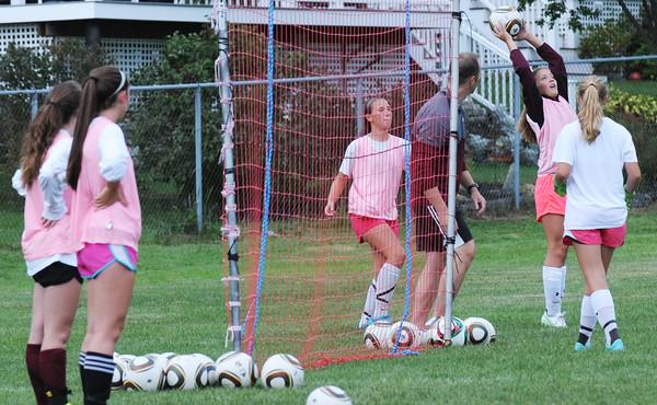 BRYAN EATON/Staff Photo. Newburyport High girls soccer practice.