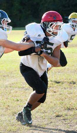 BRYAN EATON/Staff Photo. Pentucket football's Noah Malhi.