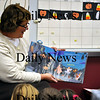 Amesbury-Mrs. Mueller reads a Halloween story to her kindergarten class before leaving for the long weekend. Brett Languirand/Staff photo