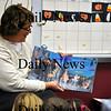 Amesbury-Mrs. Mueller reads a Halloween story to her kindergarten class before leaving for the long weekend. Brett Languirand/Staff photo