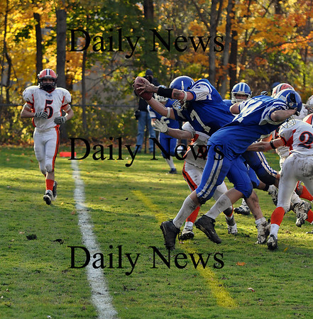 Georgetown: Georgetown High quarterback Chris Esposito dives into the endzone to take the lead during the Friday afternoon game against Ipswich. Brett Languirand/Staff photo