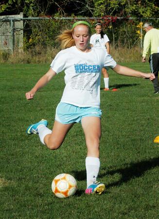 Newburyport: Abbie Bresnahan in practice on Wednesday. Bryan Eaton/Staff Photo