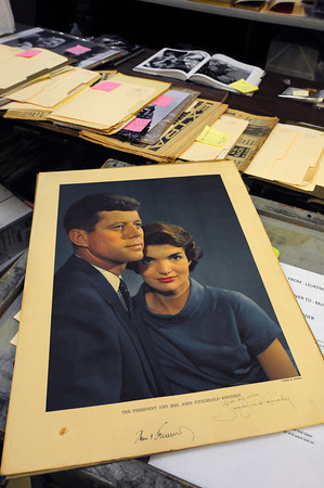 Amesbury: A print signed by both the President and Mrs. Kennedy are up for auction at McInnis Auctioneers. Bryan Eaton/Staff Photo