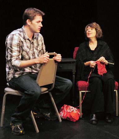 "Newburyport: Josh Paradis, left, as Thomas and Maureen Daley as Jasmine in ""A Father Is."" Bryan Eaton/Staff Photo"
