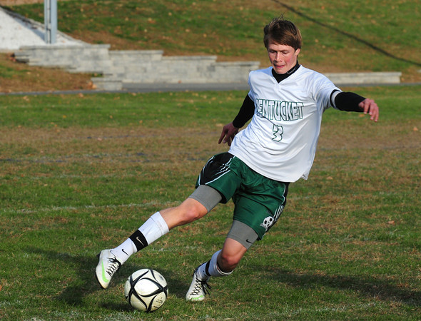 West Newbury: Pentucket's Mike Salmonsen moves the ball down the field in action with Hamilton-Wenham. Bryan Eaton/Staff Photo