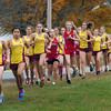 Amesbury: Amesbury and Newburyport girls runners start out their meet at Woodsom Farm in Amesbury. Bryan Eaton/Staff Photo