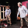 "Newburyport: Glenn Provost, left, as ""Ken"" and Joe Dominquez as ""Mark Rothko"" rehearse a scene from ""Red."" Bryan Eaton/Staff Photo"