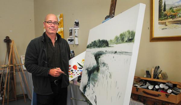 Newburyport: Artist Alan Bull will be in the Wet Paint Auction. Bryan Eaton/Staff Photo