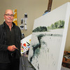 Newburyport: Artist Alan Bull will be in the Wet Paint Auction. Bryan Eaton/Staff Photo