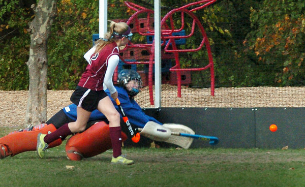 Georgetown: Newburyport's Olivia Thirkell gets the ball past Georgetown goalie Molly Janell. Bryan Eaton/Staff Photo