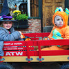 Newburyport: Cousins Lillian McCarthy, 3, of Amesbury left, and Jackson Barth, 2, of Salisbury were in Newburyport's Market Square on Wednesday for Downtown Trick or Treat stopping at participating merchants and businesses. Bryan Eaton/Staff Photo