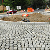 Newburyport: The roundabout at the end of Merrimac Street in Newburyport in a photo from late August. Bryan Eaton/Staff Photo