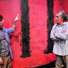 """Newburyport: Glenn Provost, left, and Joe Dominquez are the two actors in """"Red"""" at the Actors Studio at the Tannery this weekend. Bryan Eaton/Staff Photo"""