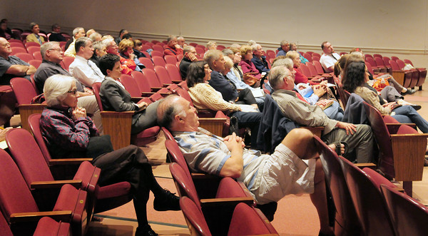 Newburyport: Close to 125 people showed up to listen to candidates for the Newburyport at-large race for city council at Newburyport High School auditorium. Bryan Eaton/Staff Photo