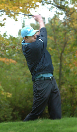 Haverhill: Triton's Kyle Hillick tees off on the fifth at Haverhill Country Club. Bryan Eaton/Staff Photo