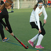 Amesbury: Newburyport's Marie Cahalane intercepts a Marblehead player last night at the Amesbury Sports Park. Bryan Eaton/Staff Photo