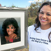 Salisbury: Nicole Elliot is a Salisbury resident and in honor of her mother, in framed photo, she and a group of friends and neighbors are walking in the Breath Deep 5K Walk to raise money to fight Lung Cancer. Bryan Eaton/Staff Photo