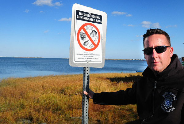 Newburyport: The Joppa Flats shellfish beds have been reopened, but as Paul Hogg, shellfish constable and harbormaster for Newburyport, warns only for commercial clammers who are licensed to clam in contaminated beds. The clammers who have gotten licenses still have to take their product from the flats to the Plum Island Purification Plant. During October, many of the Brown School kindergartners and their teachers are visiting the Emma for story hour. Bryan Eaton/Staff Photo