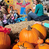 "Amesbury: The Children's Room at the Amesbury Public Library recently held their storytime at the Pumpkin Patch at the Main Street Congregational Church. Assistant children's librarian Paula Steren reads ""The Little Old Lady Who Was Not Afraid of Anything"" among other pumpkin and fall-related stories for this special storytime. Bryan Eaton/Staff Photo"