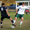 West Newbury: Pentucket's Dylan Wright battles with Hamilton-Wenham's Russell Grigorian. Bryan Eaton/Staff Photo