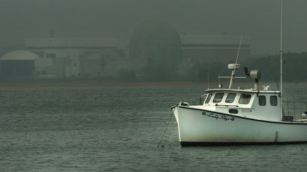 Seabrook: Monday's weather was a mixed bag with humidity, drizzle, wind and sunshine. A fishing boat in Seabrook Harbor was awash in sunlight while a mile away, the nuclear power plant was in the fog. Jonathan Sherwood is running for Amesbury District 6 city councilor. Bryan Eaton/Staff Photo