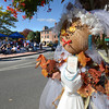 Newburyport: A scarecrow bride made by Greeting By Design stands at the corner of State Street and Liberty in Newburyport. It was one of many in along Market Square for the Newburyport Harvest Feastival this weekend. Jim Vaiknoras/staff photo